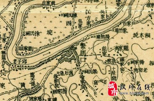 民国早期的汉川地图