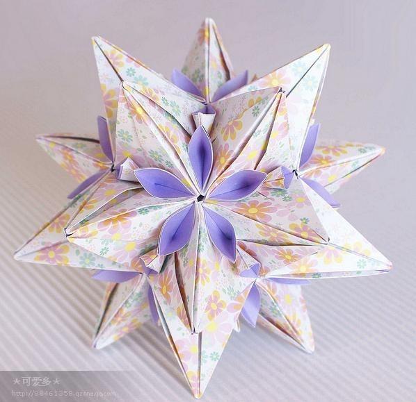 纸花球折法 图解 步骤