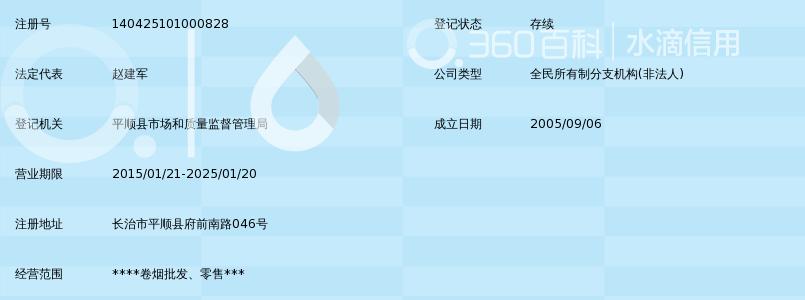 山西省烟草公司长治市公司平顺县营销部_360