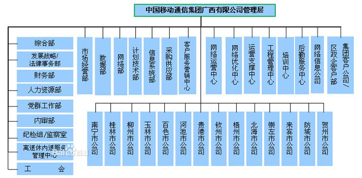 (一)公司组织结构图  (二)市公司组织