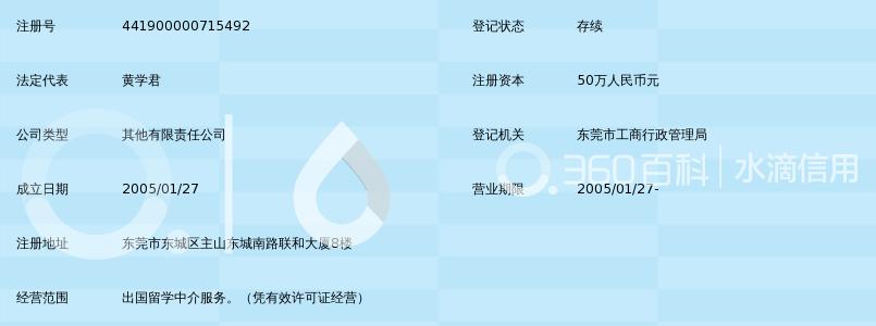 东莞市景鸿出国留学服务有限公司