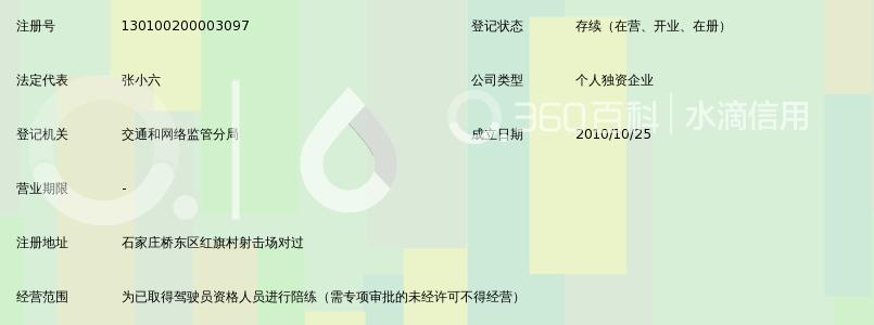 石家村儿子市六畅通汽车陪练效力动中心_360佰科