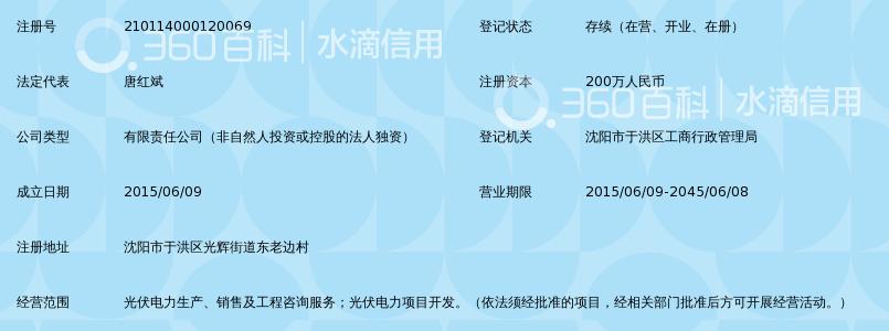 沈阳市于洪区协鑫光伏电力有限公司_360百科