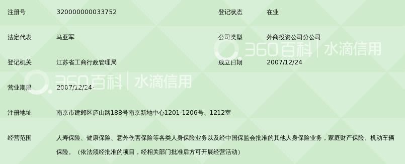 英大泰和人寿保险股份有限公司江苏分公司
